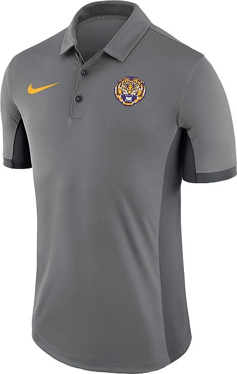 Nike LSU Tigers - Polo de Rendimiento para fútbol, Color Gris con ...