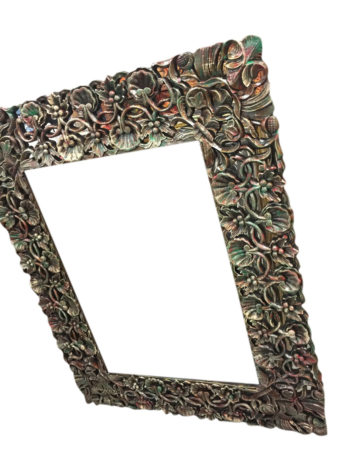 Antique miror Frame Hand Carved and Hand painted , Cherry Leaf Clusters, wall hanging Frame by Mogul Interior (Image #2)