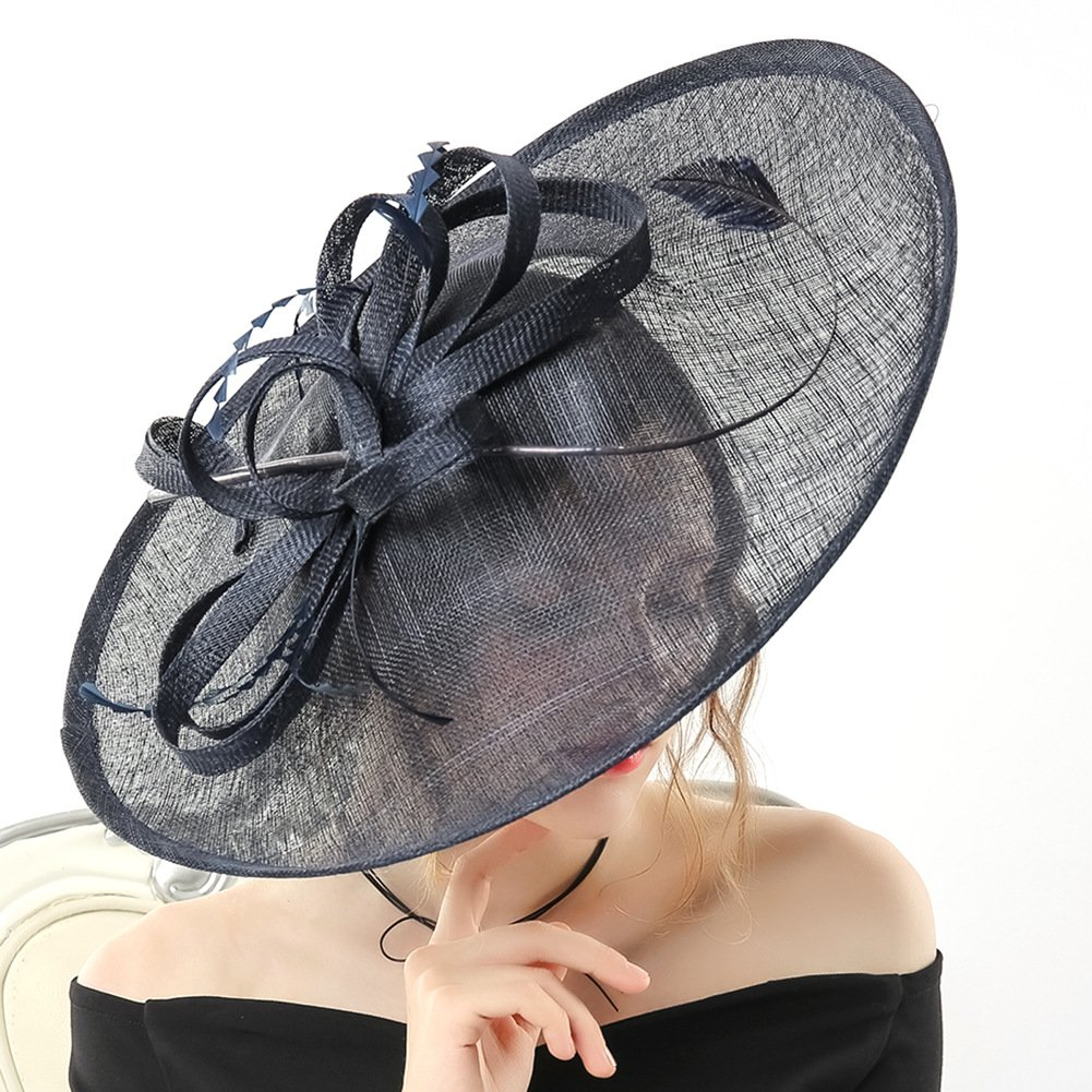 ba228bb3c58cf Koola Hatinator Hat Fascinators Church Cocktail Party Wedding Sinamay Women  Hats Black: Amazon.ca: Clothing & Accessories