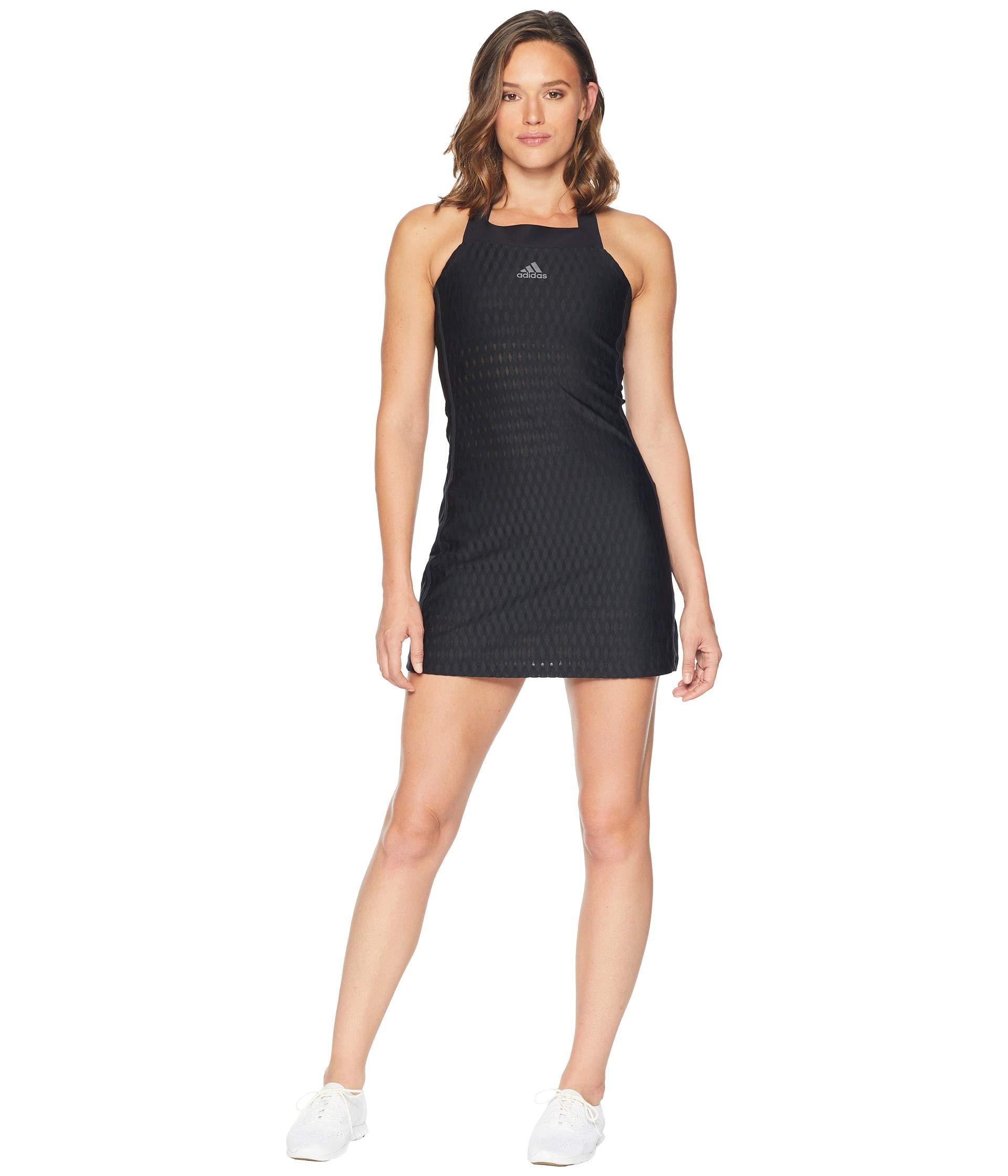 adidas Tennis Barricade Dress, Black, Large