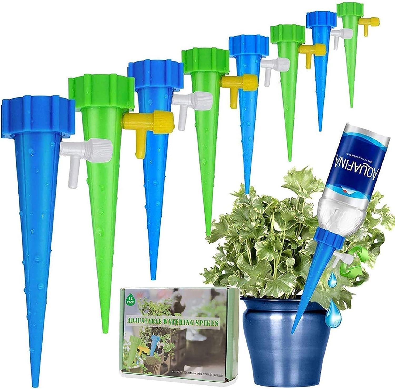Minetom Sistema de Riego Automático Kit de 12 Piezas Riego por Ggoteo Sistema de Irrigación para Bonsáis y Flores, Ideal Dispositivo de Irrigación Automático en Vacaciones