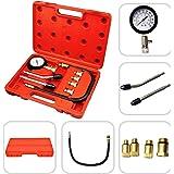 Todeco - Coffret Compressiomètre, Set de 9 Pièces pour Tester La Compression - Matériau: Acier C45 - Taille de la valise: 30 x 19,5 x 6 cm - avec une mallette rouge, 6 pièces