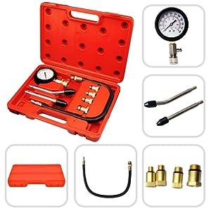 SOTECH - Coffret compressiomètre essence 0-20 bars - Kit 6 pièces 4 adaptateurs de 10 à 18
