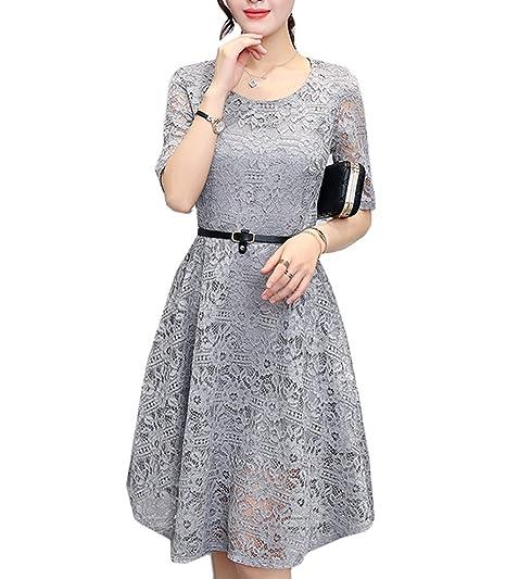 Scothen Robe de soirée Femme Vintage Longueur Genou Robe
