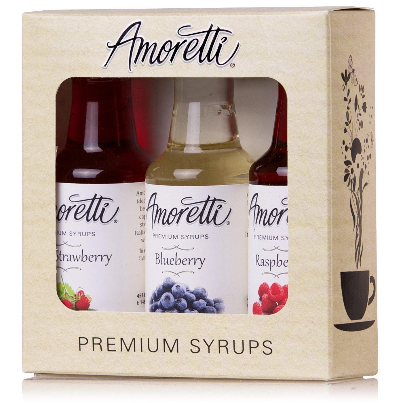 Amoretti Premium Syrups Berry 3 Pack (50ml)