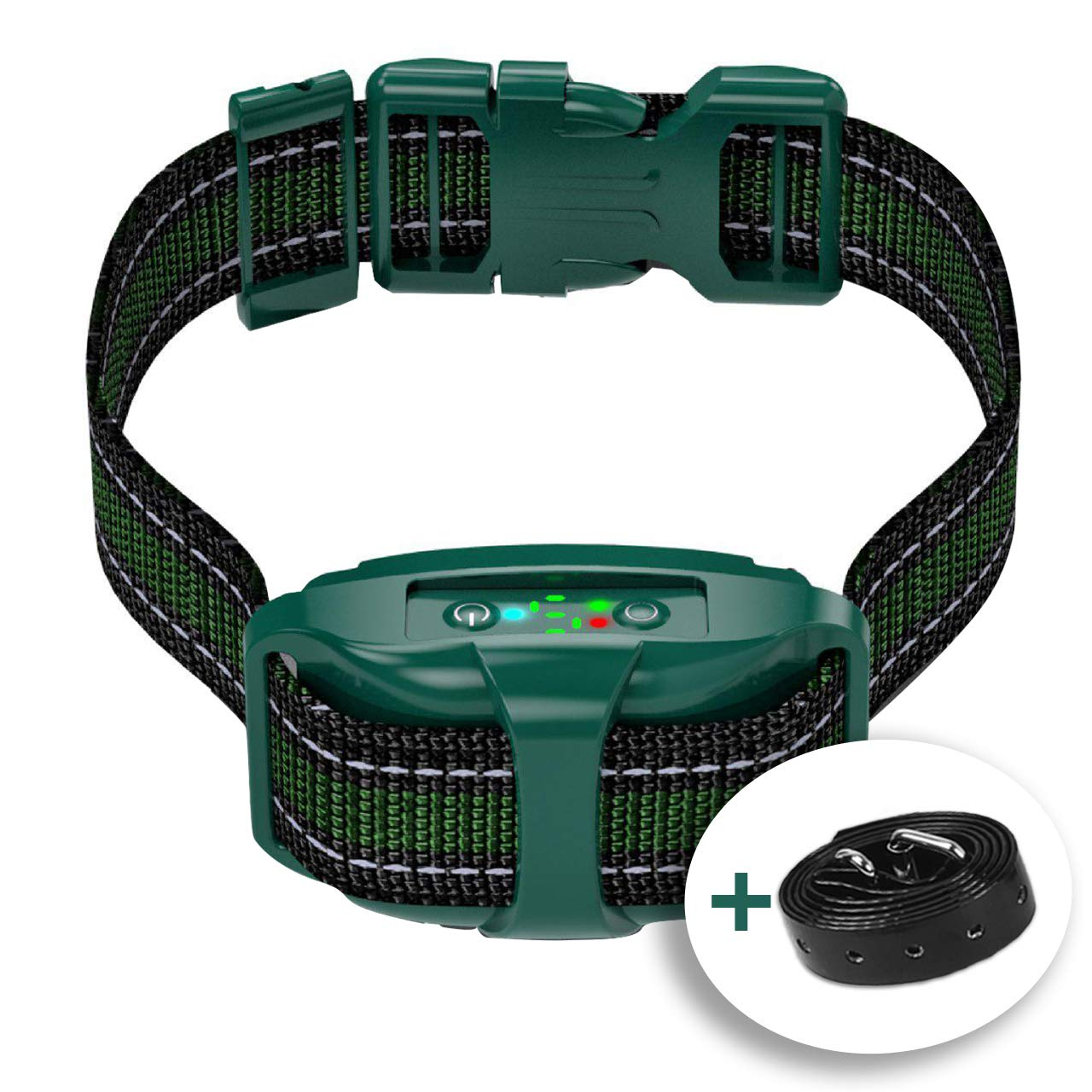 V7 Pro - Bark Collar for Small & Medium Dogs - Most Tunnel Humane Effective Vibration Rechargeable Upgraded 2020 - Anti-Barking Collar to Stop Barking - No Shock Waterproof - Safe Pet Control by TBI Pro