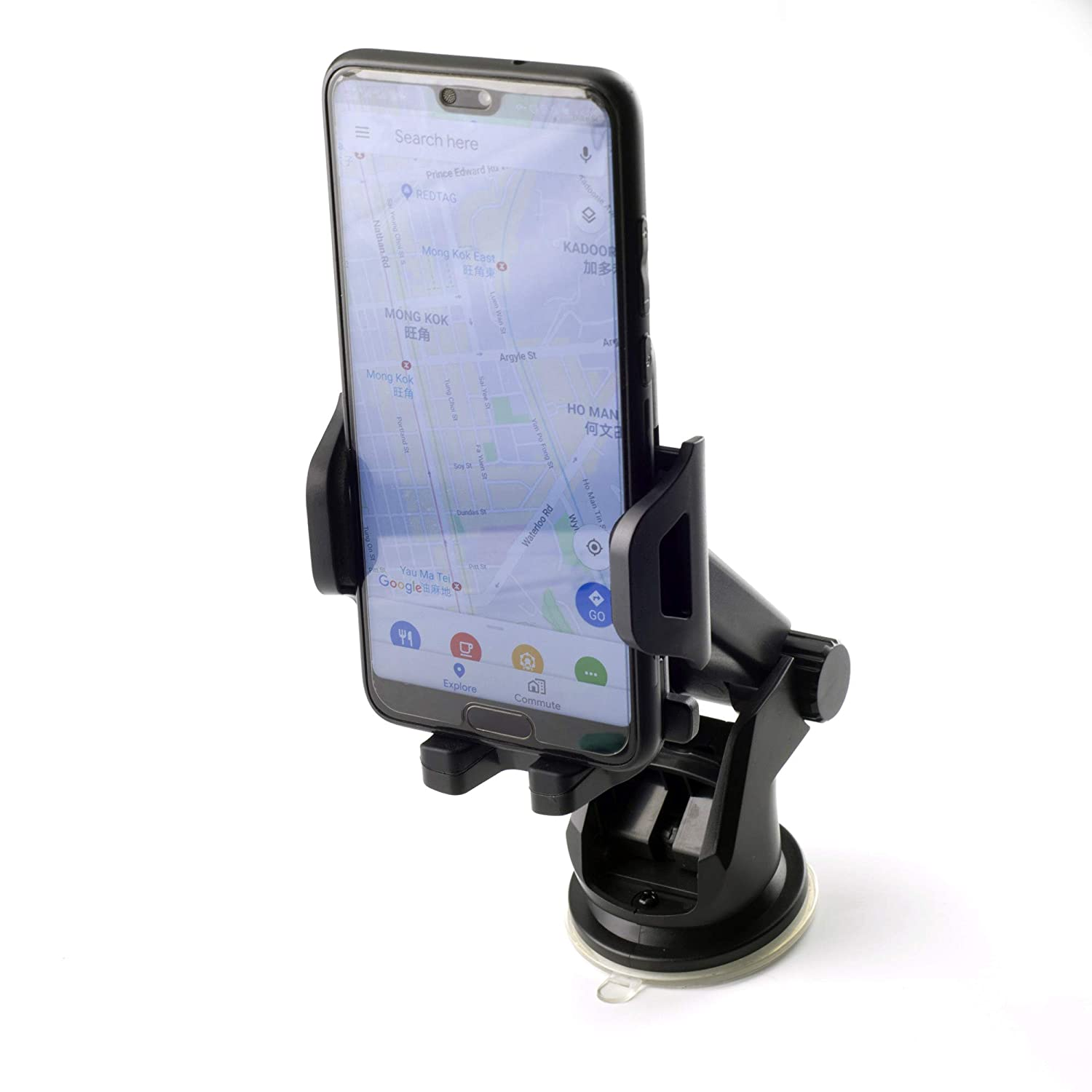 270/° Rotation and with 7.9in to 10.4in Telescopic Arm Car Mount Cradle for 11 Pro XS 8 Plus Galaxy C5 S7 Edge C8 J Window Dashboard Desk New Car Phone Holder Strong Adsorption Sucker Securing Clip