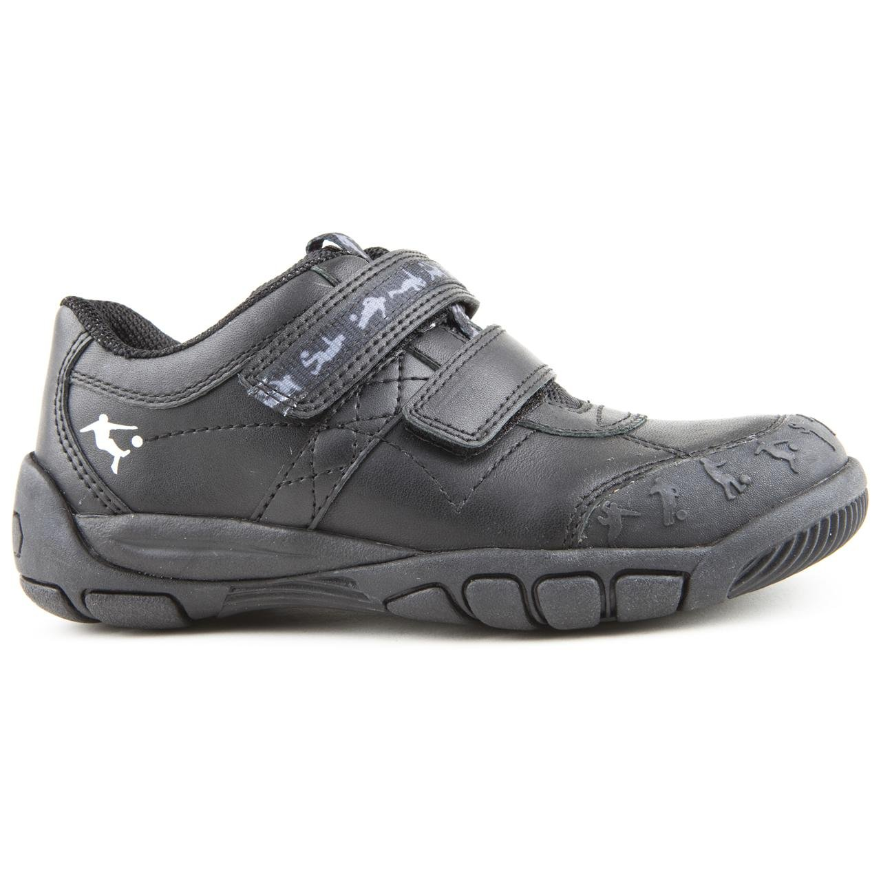 7fd1a9854acd3 Boy Junior Start-Rite Hat Trick G Black Touch Fastening Shoes Size 1:  Amazon.co.uk: Shoes & Bags