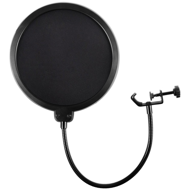 Earamble Studio Microphone Pop Filter Round Shape Wind Mask Shield Screen ER-Filter-001-CA