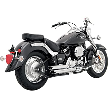 06-15 YAMAHA XVS65: Vance & Hines Shortshots Staggered Exhaust  (Chrome/California Models)