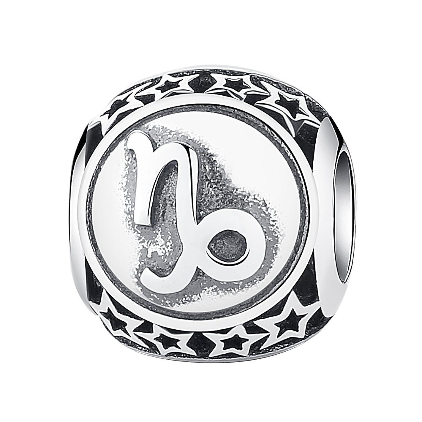 第二に友情疫病MFYS Jewelry ファッション メンズ レディース ネックレス  イニシャル (全26種)英字 アルファベット チャーム ステンレス (チェーン付ペンダントトップ)  ネックレス カラー:シルバー(銀)[ギフトボックスを提供]