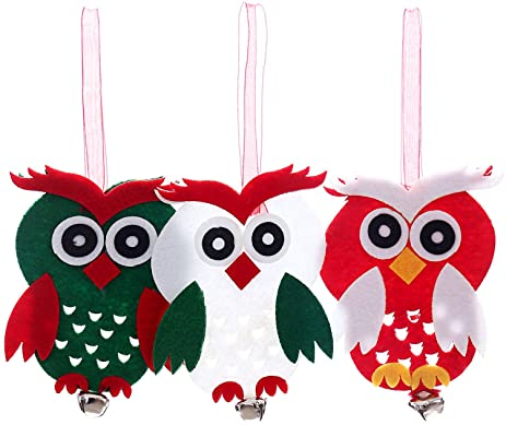 3pcs christmas decorations cartoon owl christmas tree ornaments pendant