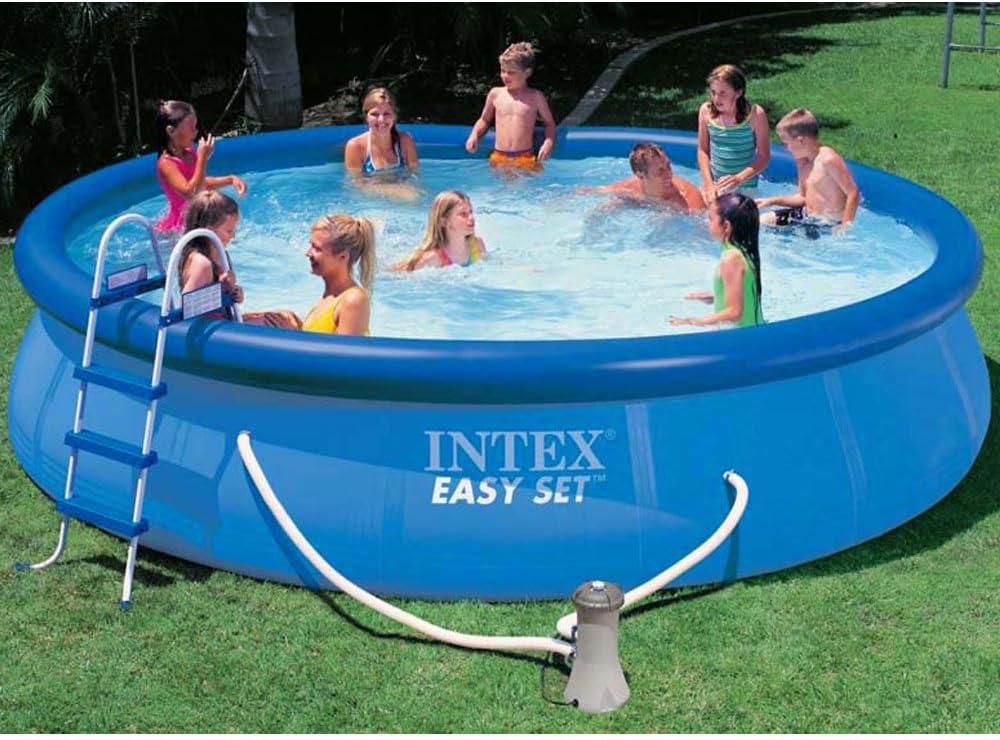 Intex piscina Easy set con depuradora, escalera, tapiz de suelo y cobertor 457 x 122 cm: Amazon.es: Jardín