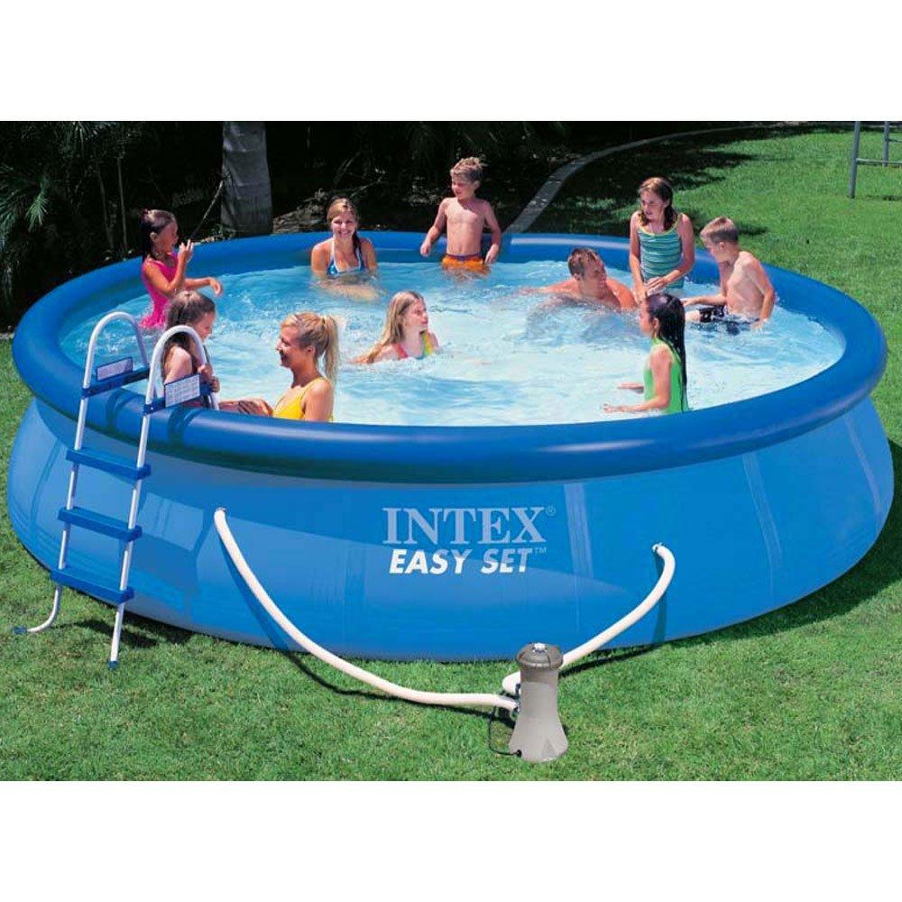Intex piscina Easy set con depuradora, escalera, tapiz de ...