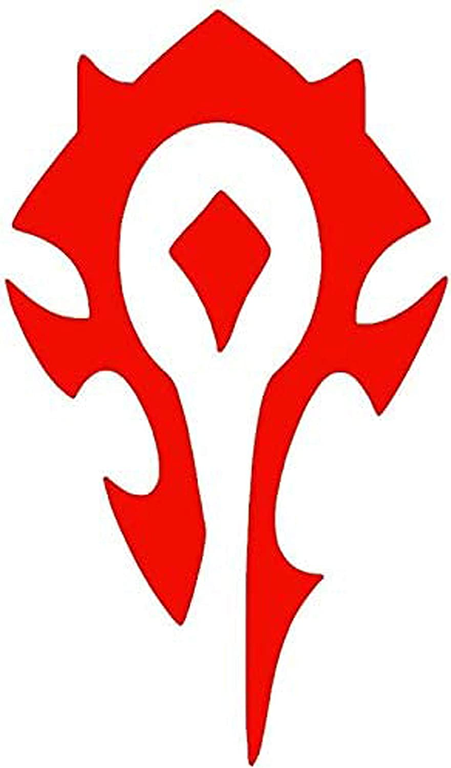 H-Tradings Warcraft Horde RED 5.5 Inches Approx Cars Walls Laptop Die-Cut Vinyl Stickers Decals Vans SUV Trucks Windows Bumper
