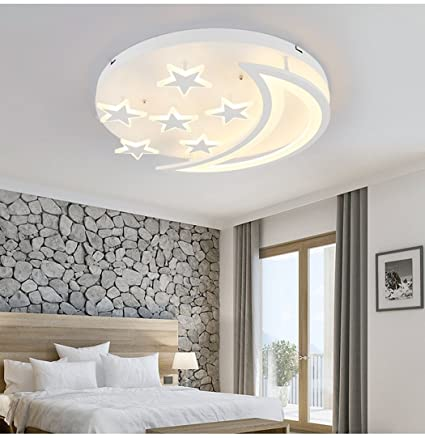 Amazon star moon led ceiling light simple modern ceiling light star moon led ceiling light simple modern ceiling light boys girls kids bedroom living room lights aloadofball Image collections