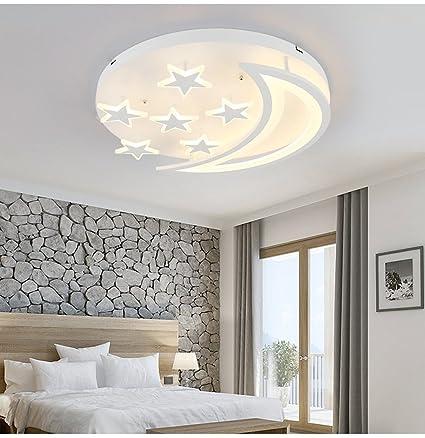amazon com star moon led ceiling light simple modern ceiling light rh amazon com bedroom ceiling lights home depot bedroom ceiling lights ideas