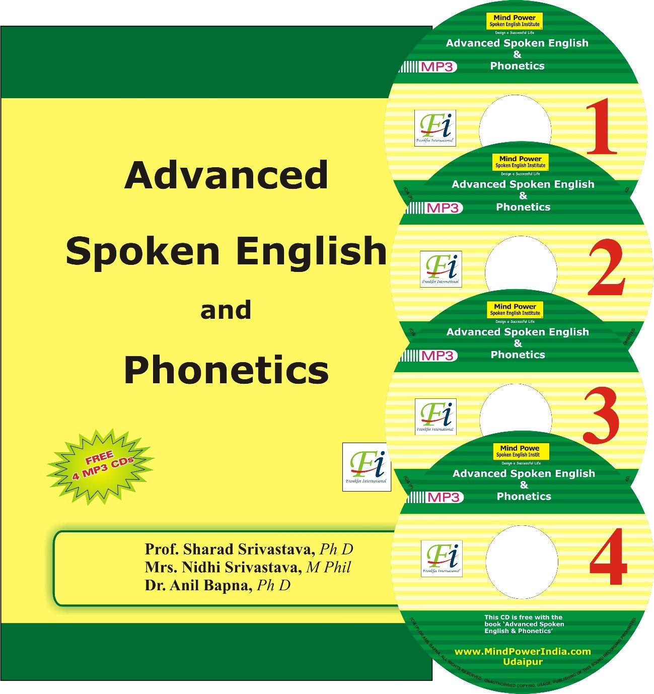 Buy Advanced Spoken English And Phonetics With 4 Mp3 Cds Mind