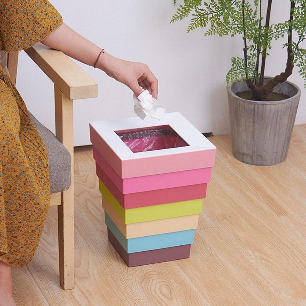 M/ülleimer Poubelle Abfalleimer Pink Creative Home Wohnzimmer Schlafzimmer Nette Pers/önlichkeit Mode Home Einfache B/üro Fold Rollsnownow