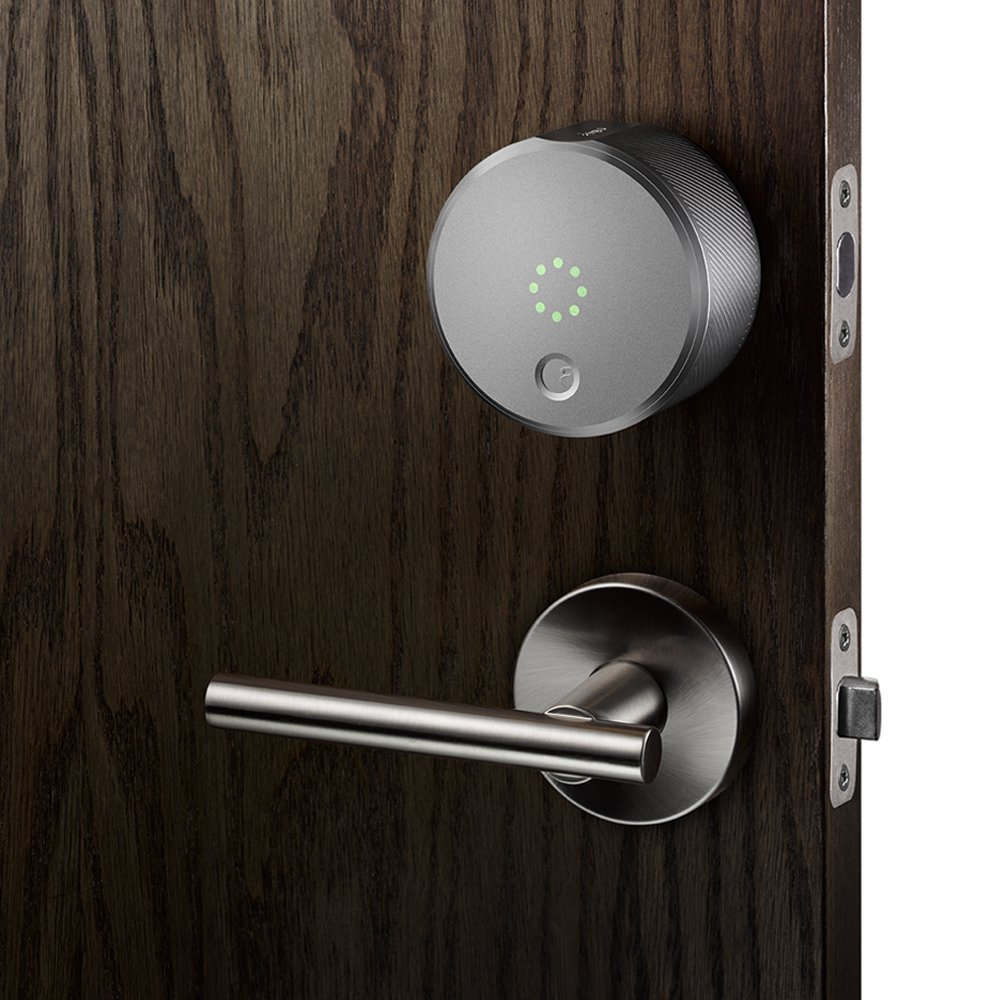 august smart lock keyless home entry with your smartphone silver amazoncom