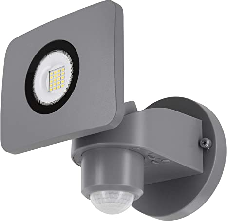 Foco de pared LED 20 W IP54 con detector de movimiento + sensor crepuscular – giratorio
