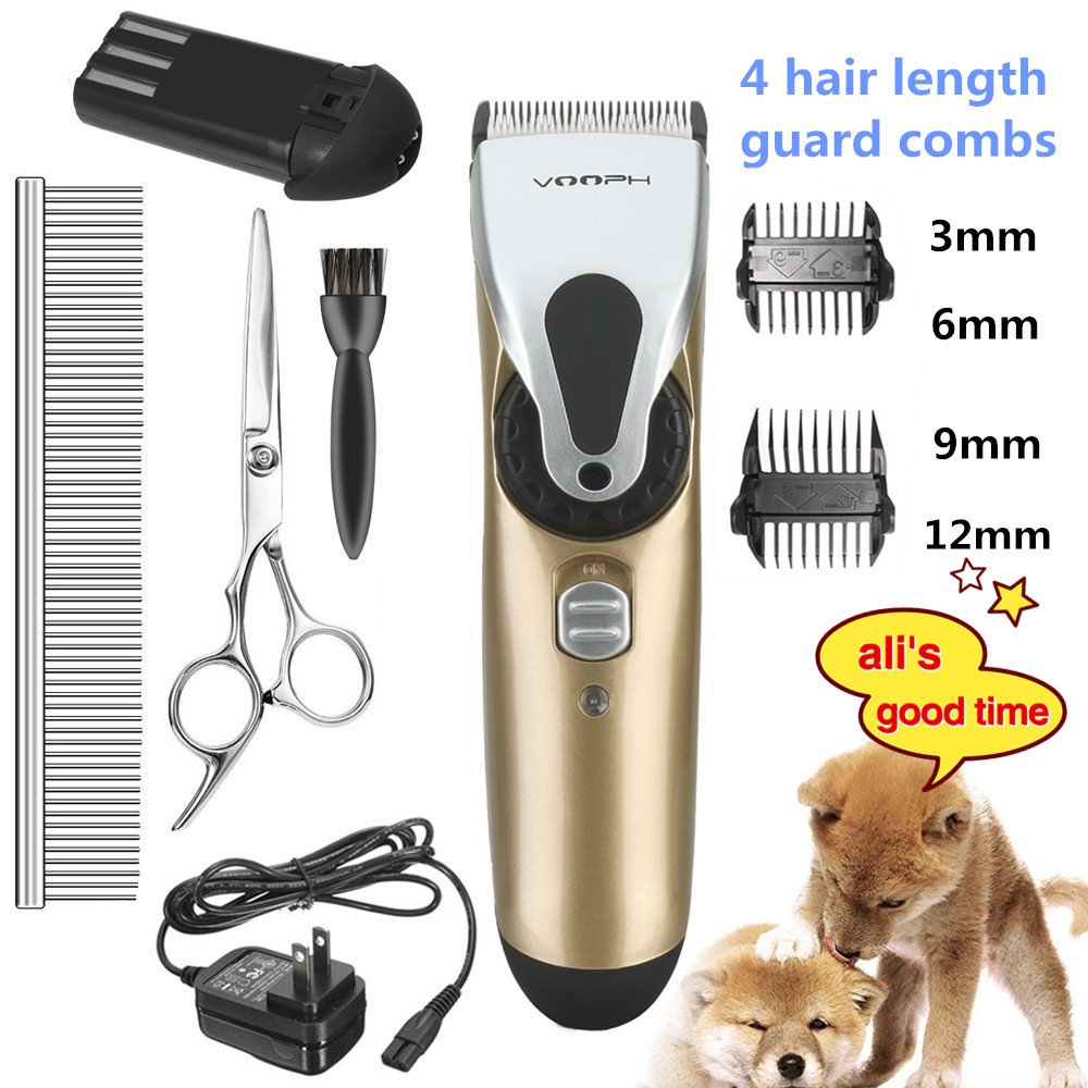 Pet Grooming Clippersihoven Professional Cordless Dog Grooming Clippers Kit Low Noise Rechargeable Electric Hair Trimming Clippers Set with Scissors and Guide Comb for Small Medium Large Dogs Cats