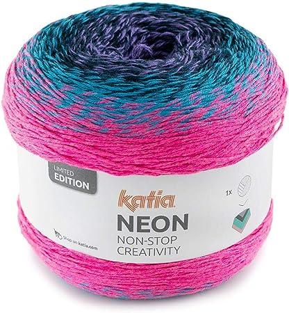 Lanas Katia Neon Ovillo de Color Turquesa Cod. 505: Amazon.es: Hogar