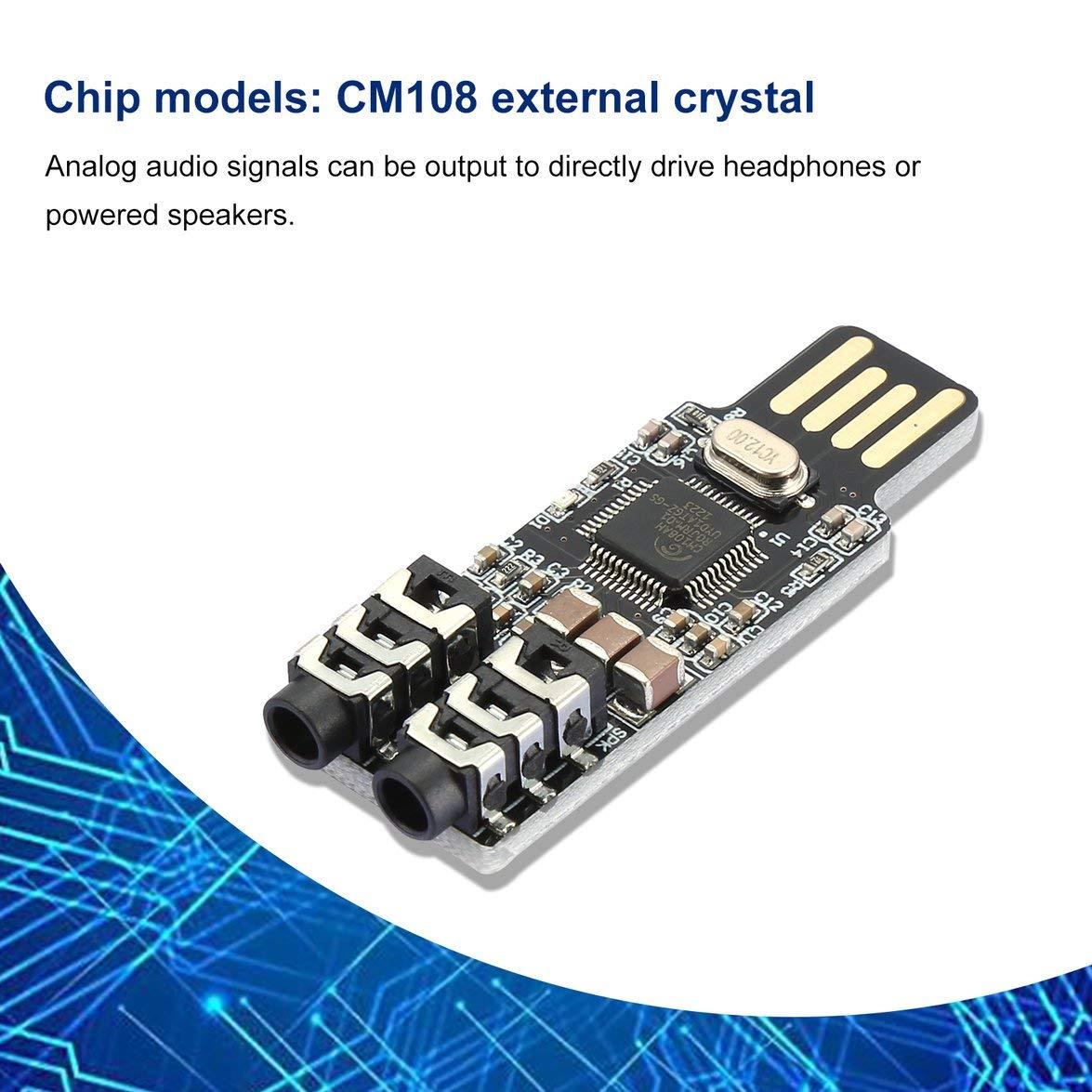 Banbie CM108 Unidad USB Tarjeta de Sonido Libre Ordenador ...
