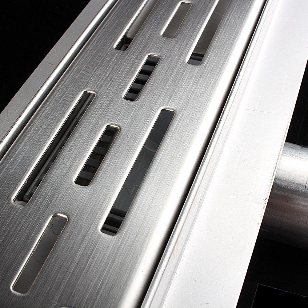 canal de desag/üe de suelo sif/ón canaleta para ducha para ba/ño o cocina en el suelo con diferentes medidas de suelo Desag/üe de suelo para ducha de acero inoxidable