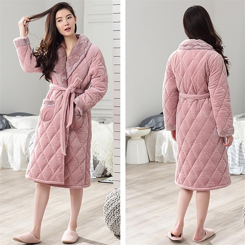SEX Bathrobe Women S Towelling Bath Robe Dressing Gowns Nightwear Housecoat  Lounge Wears With Pockets And Waist Belt 8d5f21b94