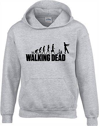 Crown Designs Walking Dead Evolution Programa de Television Zombie Inspirado Sudaderas Unisex de Regalo para Hombres Mujeres y Adolescentes: Amazon.es: Ropa y accesorios