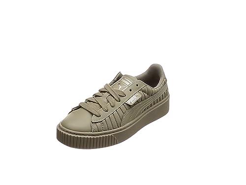 5ae2b0269a51 Puma Damen Basket Platform EP WN s Sneaker, Grau Rock Ridge, 36 EU