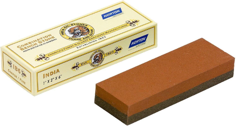 203 x 51 x 25 mm, grano grueso 100 NORTON INDIA Piedra de afilar