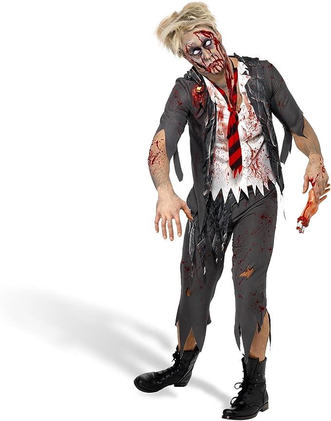 Zombie Disfraz Hombre High School Boy Look para Halloween U ...