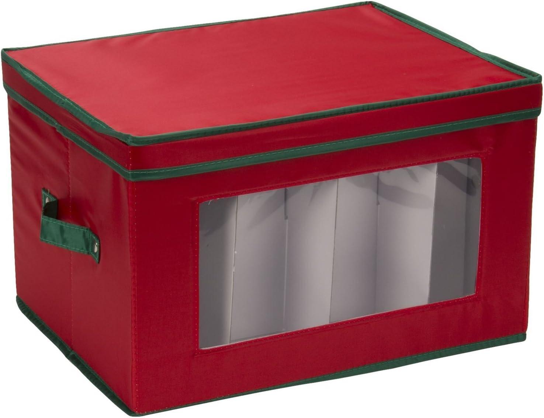 Generic cajas de almacenaje para copas de cava (rojo con borde ...