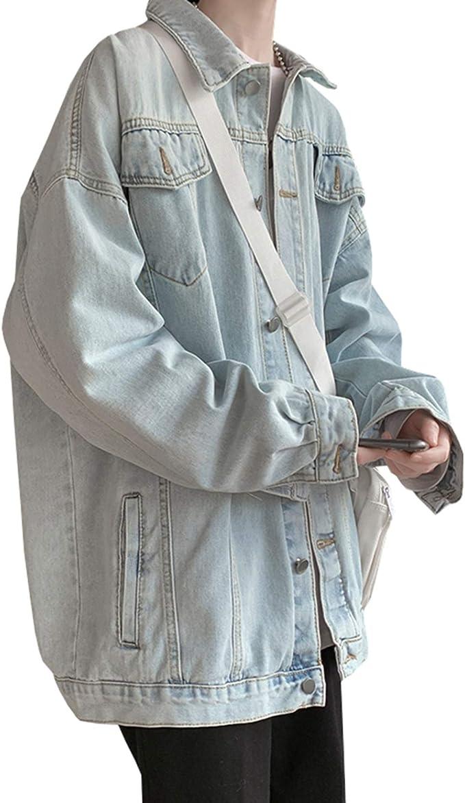 春秋 デニムジャケット ジージャン メンズ ファッション シンプル 無地 防風 防寒 通勤 通学 お出かけ Gジャン かっこいい 合わせやすい 快適 ストレッチ ゆったり 大きいサイズ M-2XL 5色展開