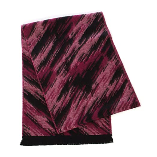 f61419c32 Cashmerefeel winter soft scarf, for women, classic warm plaid shawl wrap,  Abstract Fuchsia at Amazon Women's Clothing store: