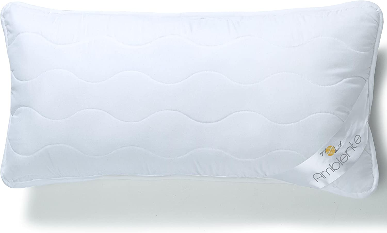aqua-textil Ambiente Seitenschl/äferkissen Ergo.150 Mikrofaser Stillkissen ergonomisches Lagerungskissen Kissen