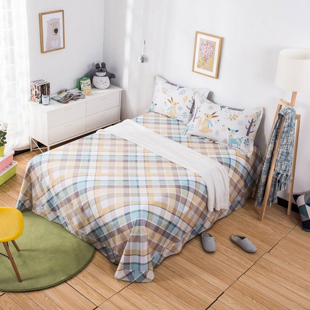 Hojas Xuan - Worth Having Láminas de Lino a Rayas Un Solo Pedazo de algodón Más Grueso de Sarga Estudiante Dormitorio Colchas (Tamaño : 230 * 245cm): Amazon.es: Hogar