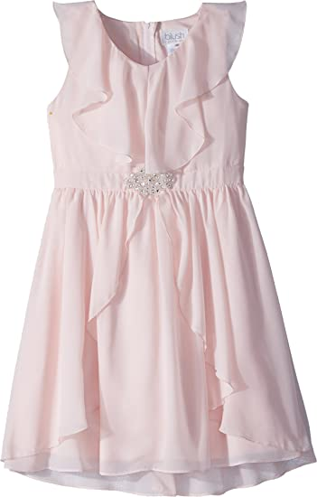 pretty cheap outlet for sale superior quality Amazon.com: US Angels Girl's Ruffle Front Chiffon Dress w/Brooch ...
