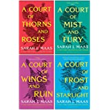 A Court of Thorns and Roses Series Sarah J. Maas 4 Books Collection Set (A Court of Thorns and Roses, A Court of Mist…