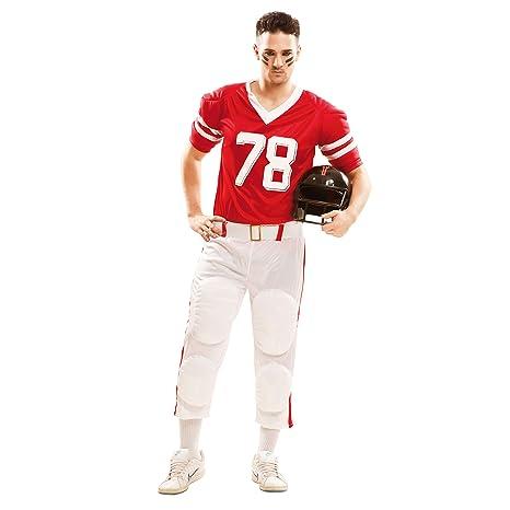 My Other Me Me-202135 Disfraz de jugador de rugby para hombre Color rojo M-L ea97ac63687
