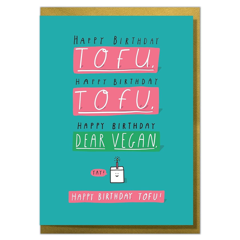 Happy Birthday Tofu Funny Vegan Card Amazoncouk Office Products