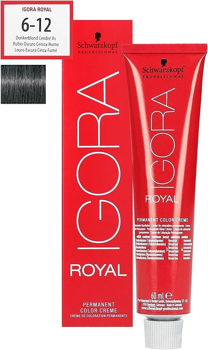 Schwarzkopf Igora Royal 6-12 rubio oscuro ceniza extra 60 ml