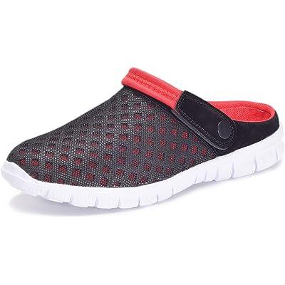 Unisex Hombres Mujeres Zuecos Zapatillas de Playa Respirable Malla Ahueca hacia Fuera Las Sandalias Zapatos Vernano
