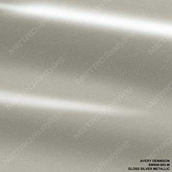 Amazon Com Avery Sw900 803 M Gloss Silver Metallic 5ft X 1ft 5 Sq Ft Supreme Vinyl Car Wrap Film Automotive