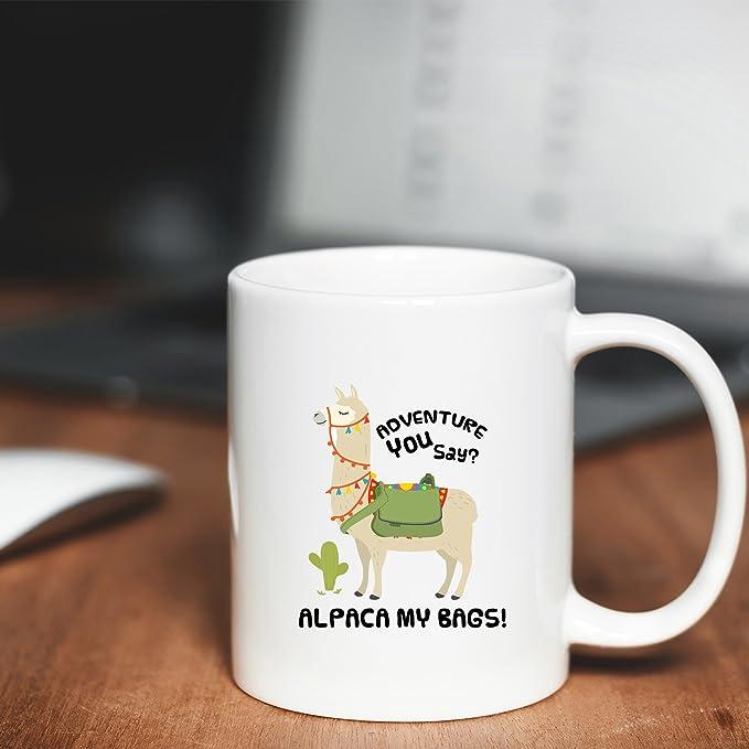 Taza de café con texto en inglés