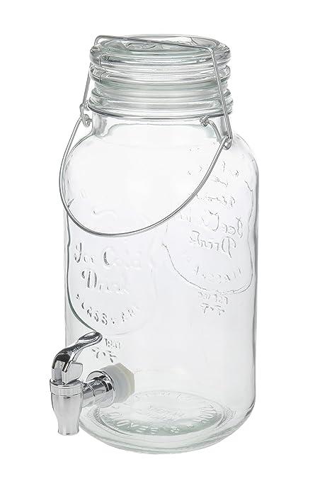 Jugo dispensador dispensador de bebidas 4 L dispensador de agua con grifo (Limo Party 4