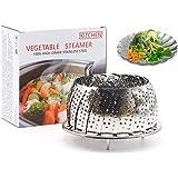 "Akesky Vegetable Steamer Basket 5.5-9"", Healthy Premium Stainless Steel Seafood Fruit Food Steamer for Instant Pot Pressure Cooker"