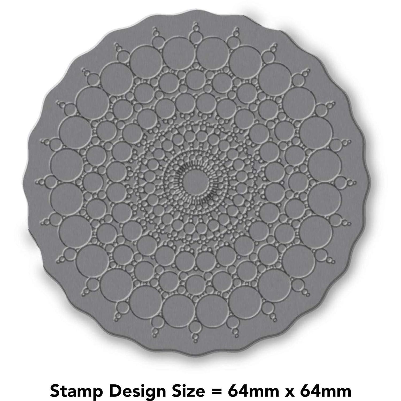 Azeeda A7 Bubble Mandala Unmounted Rubber Stamp RS00007874